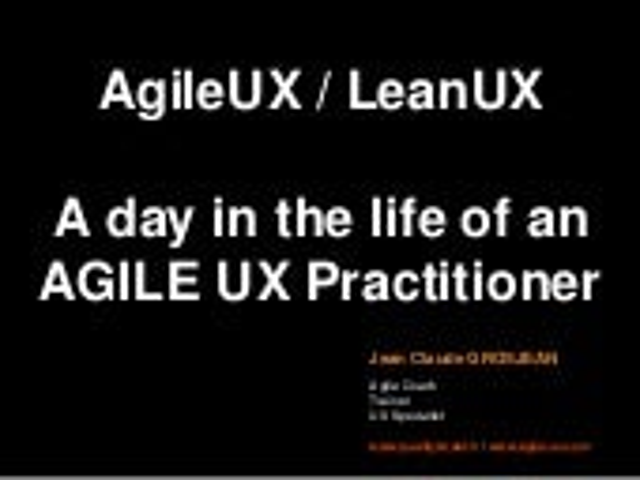 AgileUX LeanUX grosjean2011