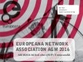 Europeana Network Association AGM 2016 - 8 & 9 November - Welcome slide