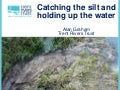 Resilient areas - Implementing NFM 'Catching the silt and holding up the water'