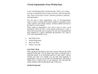 A good argumentative_essay_writing_steps