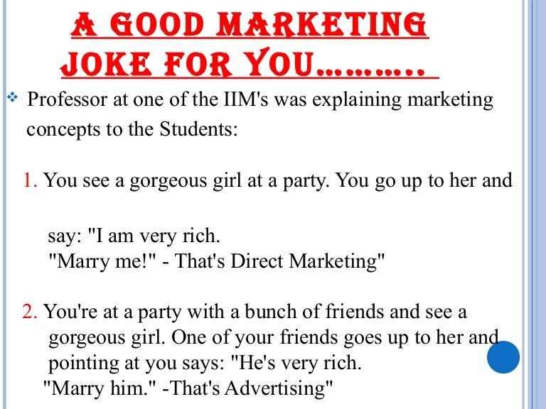 A good marketing joke for you