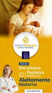 Aleitamento Materno: Pediatra, faça a diferença! E-book - SBP