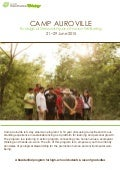 Camp Auroville; Ecological Stewardship & Human Well-Being