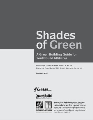 A Green Building Guide for YouthBuild Affiliates