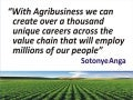 Agribusiness creating careers and jobs by sotonye anga