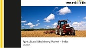 Agricultural machinery market in india 2017  - Research On India