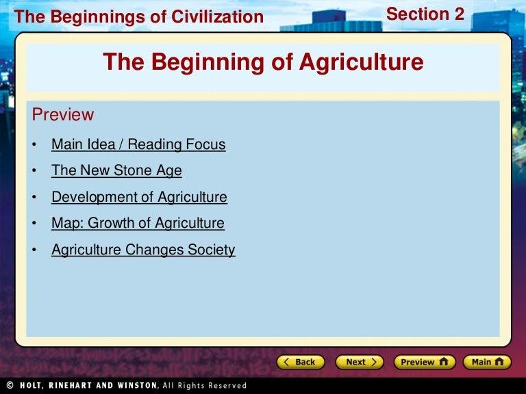 agriculture origin