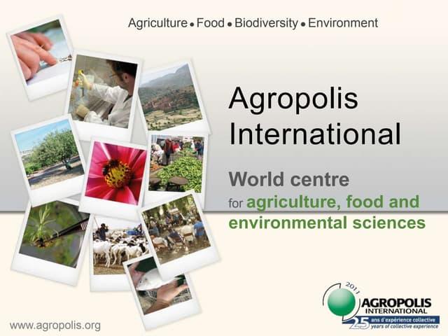 Agropolis international-presentation
