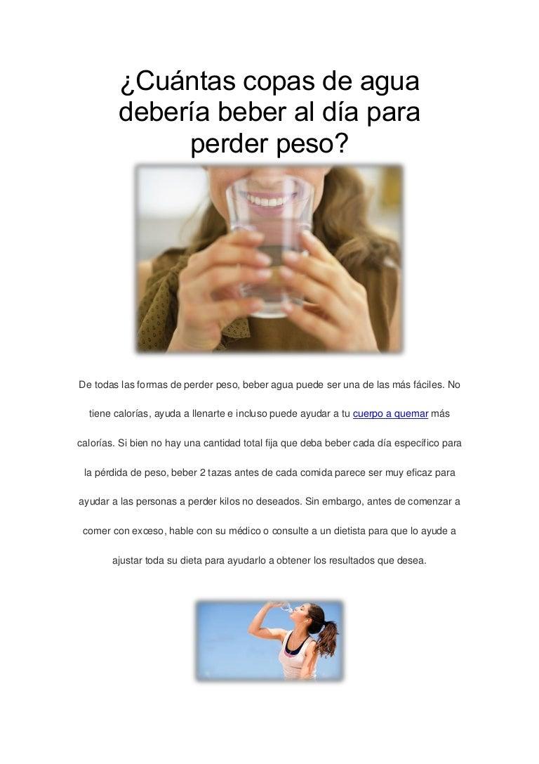 agua ayuda a bajar de peso