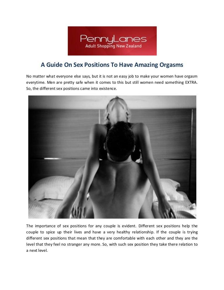 Women orgasm sex positions