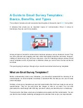 A guide to email survey templates  basics, benefits, and types