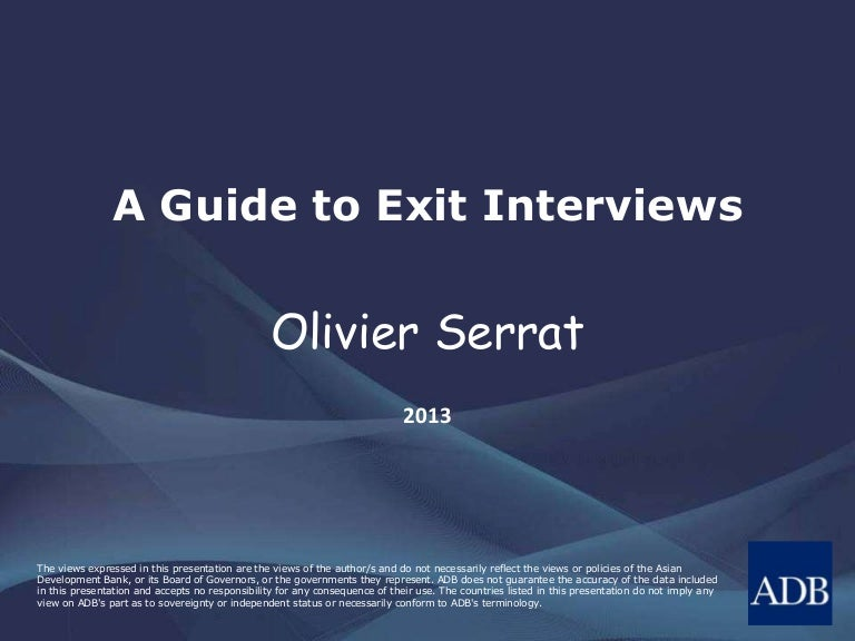 exit interviews and dismissals essay The exit interview is a great tool in gathering information about the work environment, work culture, day-to-day activities and concerns, issues regarding management style, workplace ethics and employee morale.