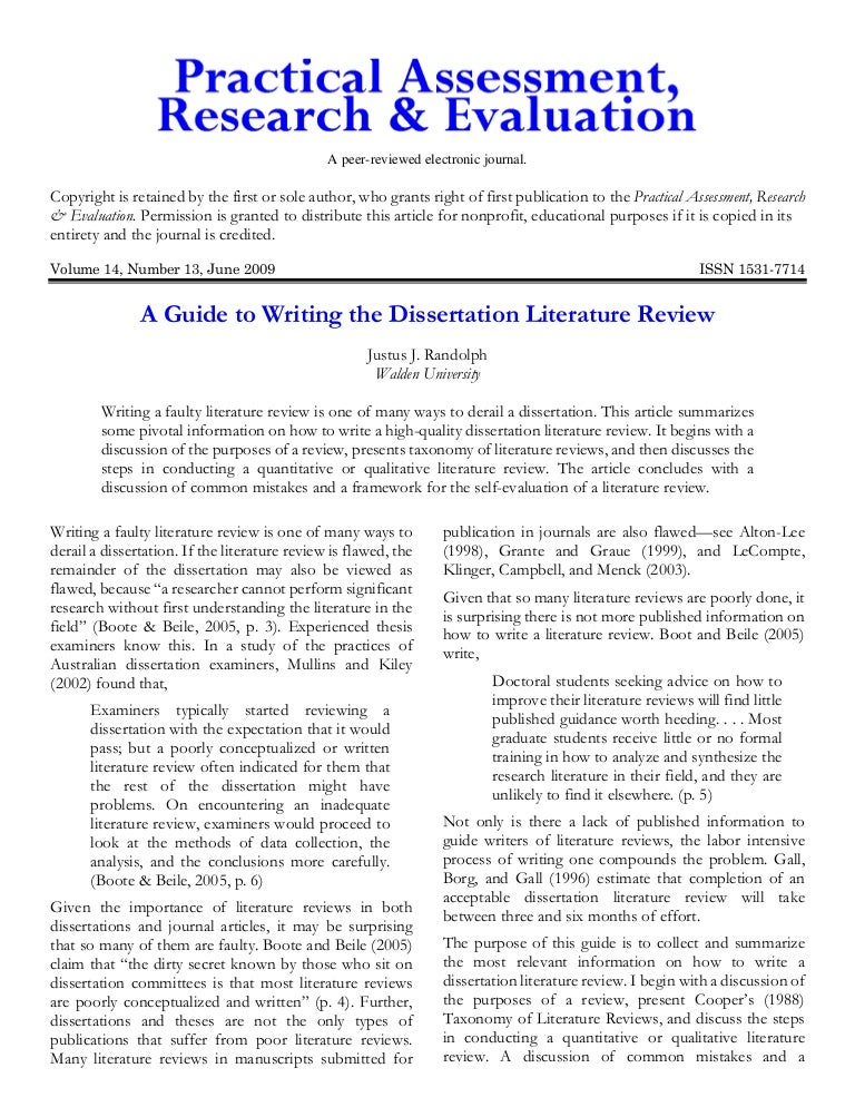 purpose of a dissertation literature review Chapter 1 a complete dissertation 7 purpose, or it does not stand alone as a document chapter 2: literature review this chapter situates the study in the con-.