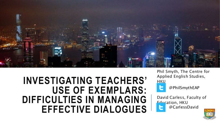 Investigating teachers' use of exemplars: Difficulties in managing ef…