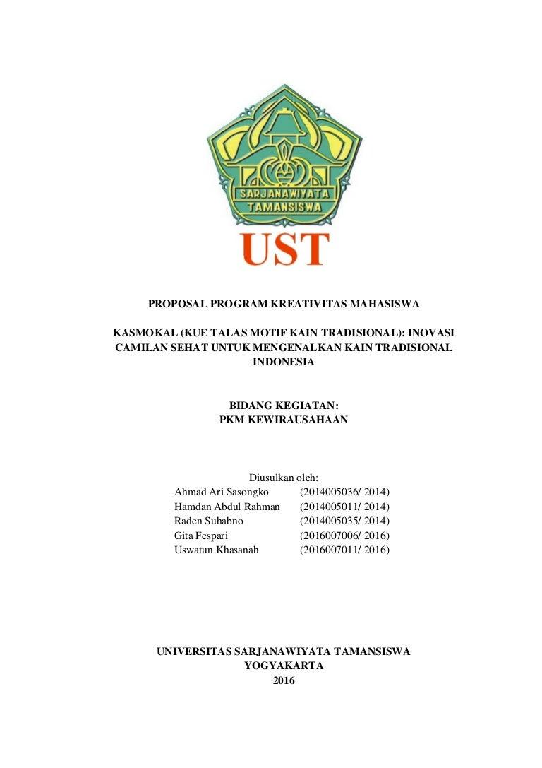Proposal Pkm Kewirausahaan Lolos Pkm