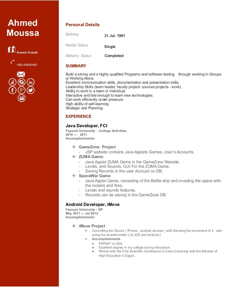 Template In Java Java Developer Resume Template Free Samples Pinterest  Android Developer Resume