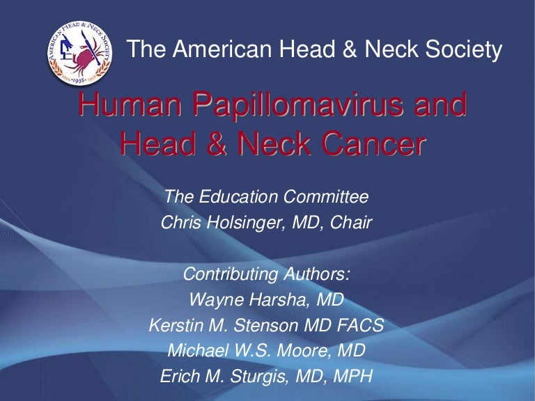 hpv and head and neck cancer ppt