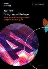 AI in B2B: Going beyond the hype,