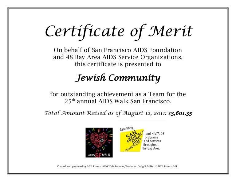 sample certificate of merit