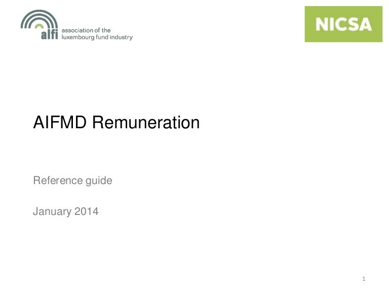 AIFMD Remuneration | Reference guide