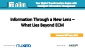 Webinar: Information Through a New Lens - What Lies Beyond ECM