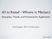 AI in Retail - Where it Matters / What's Next