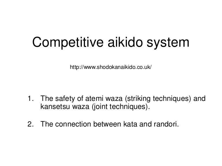 Shodokan Aikido Basics
