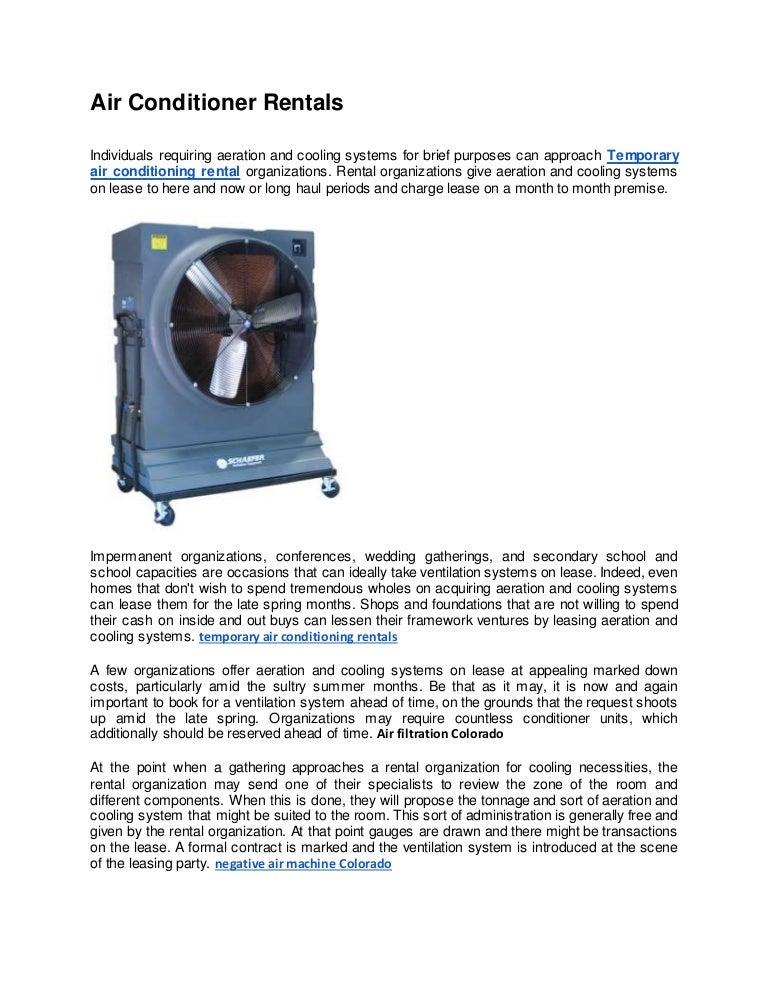 Air Conditioner Rentals
