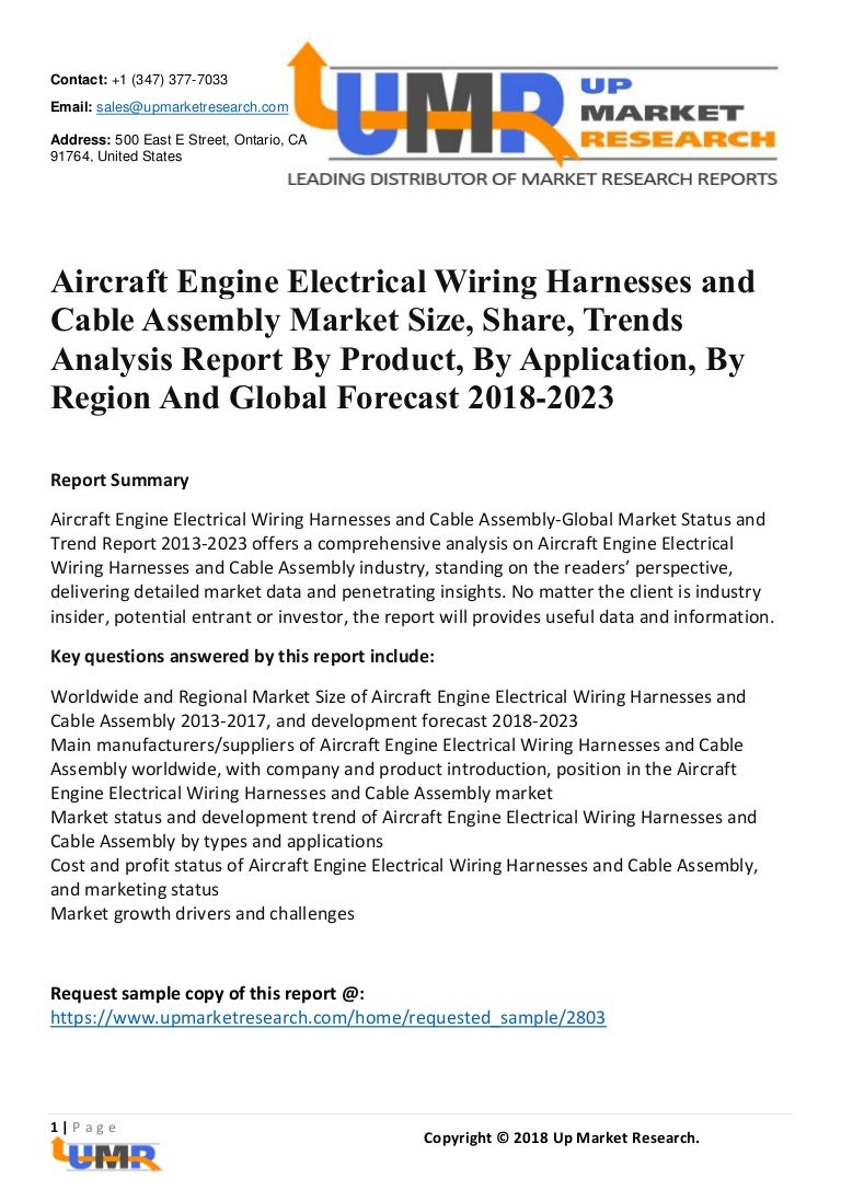 Aircraft Engine Electrical Wiring Harnesses And Cable