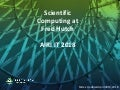 Scientific Computing @ Fred Hutch