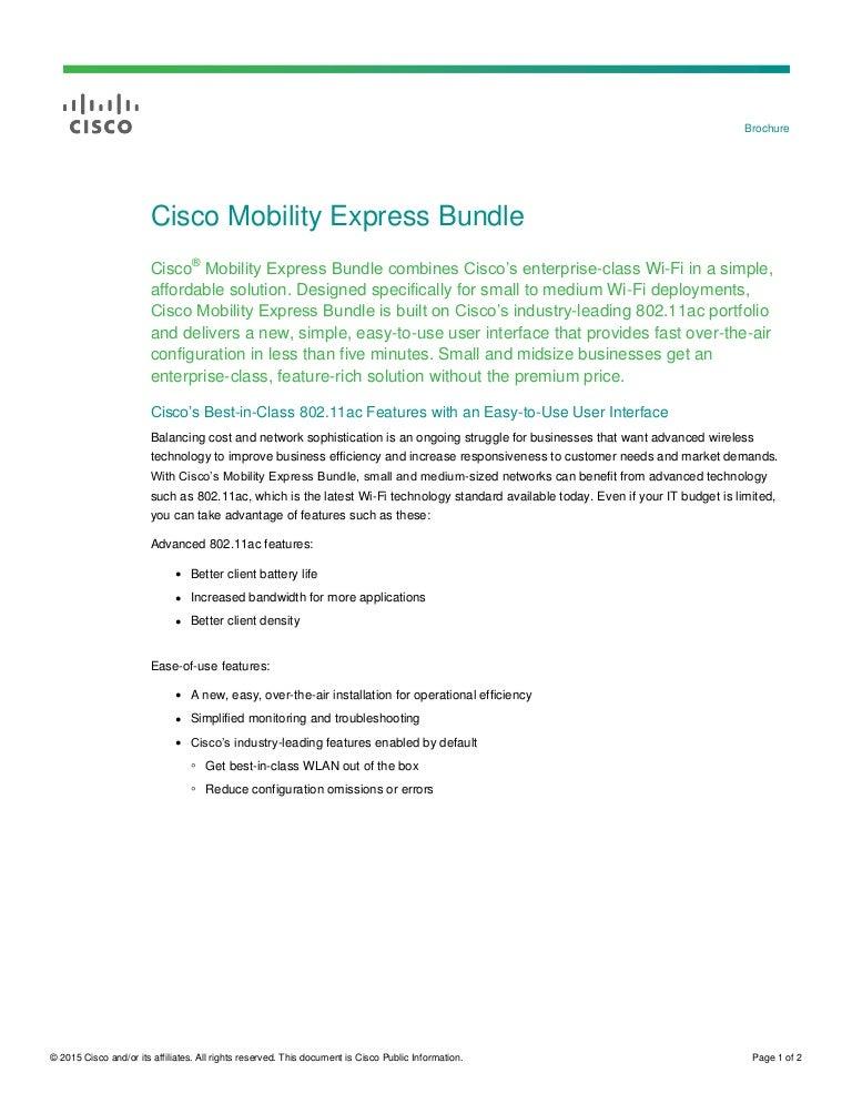Cisco Mobility Express Bundle