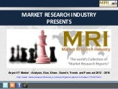 Airport IT Market - Analysis, Size, Share, Growth, Trends and Forecast 2012 - 2016