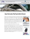 Airport Taxis London- Why They Are Much In Demand