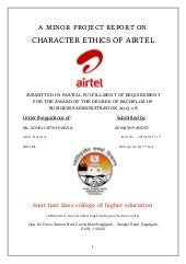 BBA Minor Project Report on Airtel