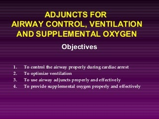 Airway adjuncts and management in ACLS