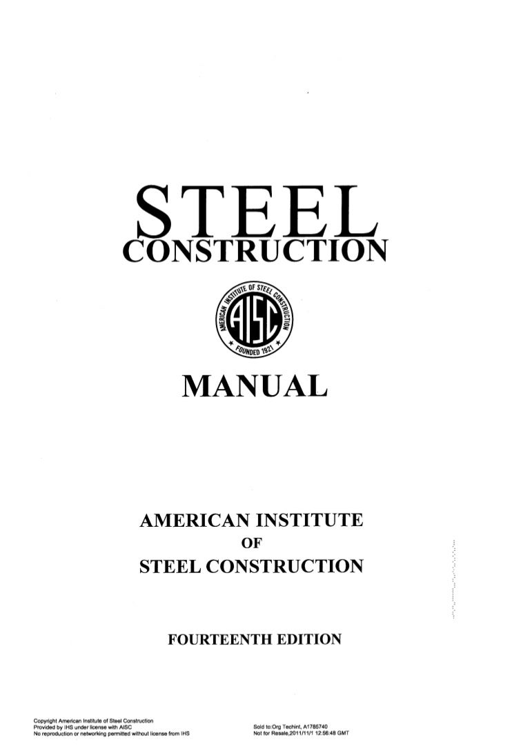 Manual Of Steel Construction Pdf