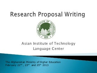 Research proposal writers in uk
