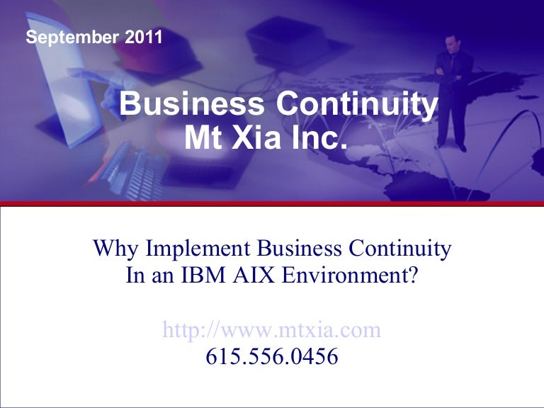 Implementing a business continuity essay
