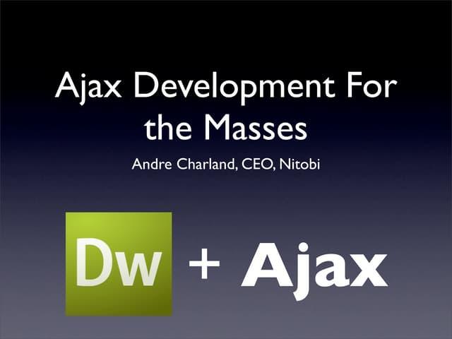 Ajax Development With Dreamweaver