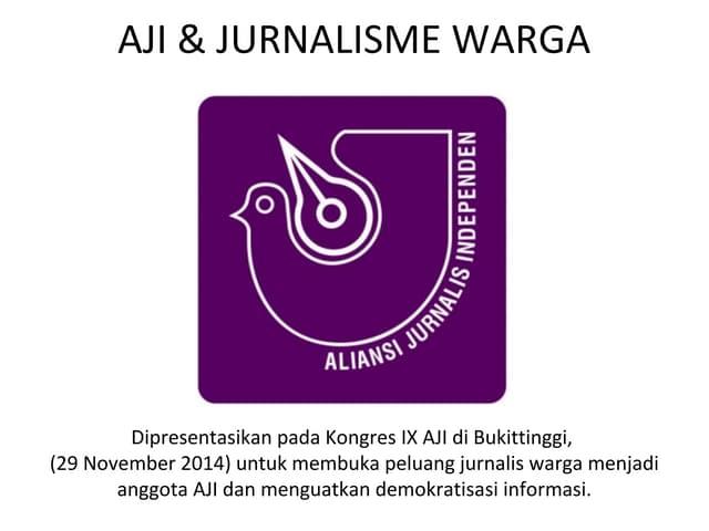AJI dan Jurnalis Warga