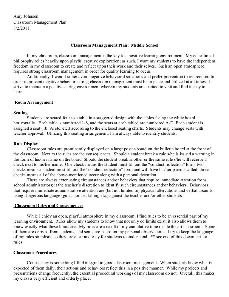 Debate: Classroom management