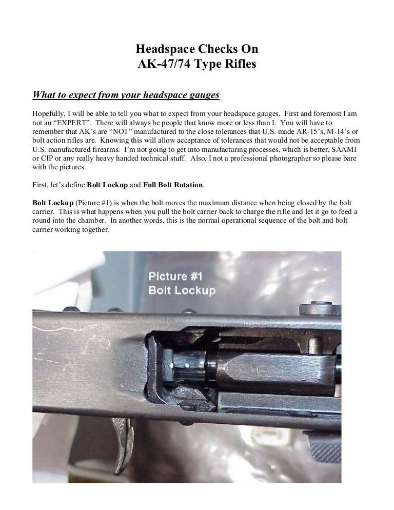 Ak 47, Ak 74 Headspace Checks