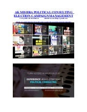 AK MISHRA Political Consulting | Election Campaign Mgt @ www.politicalconsultant.in
