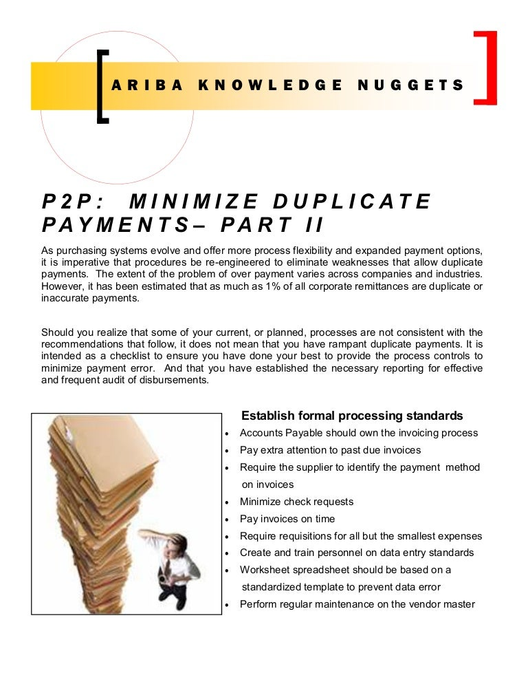 An Invoice Template Pdf Ariba Knowledge Nuggets Pp Reducing Duplicate Payments Part  Creating An Invoice For Freelance Work Word with E Receipts Template Word  Express Invoice Mac Excel