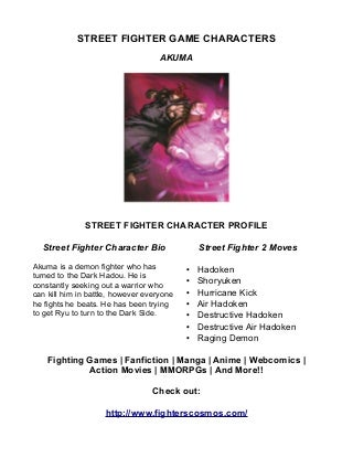 Street Fighter Game Characters Akuma
