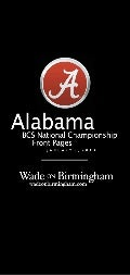 Alabama 2012 BCS National Championship front pages