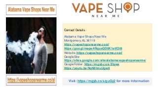 Alabama Vape Shops near Me
