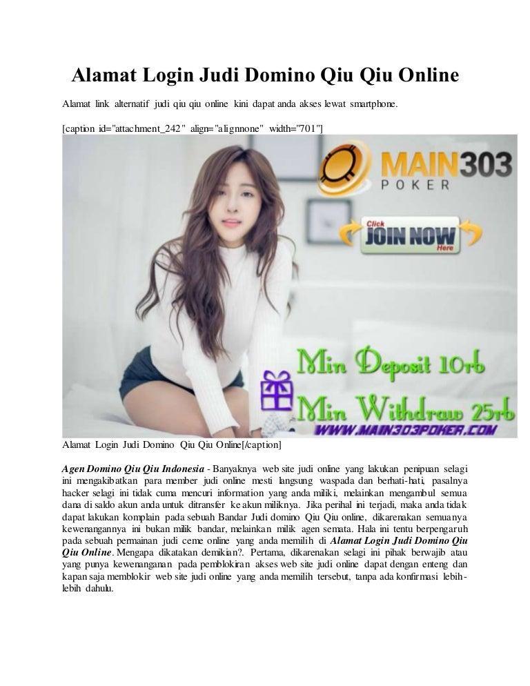 Alamat Login Judi Domino Qiu Qiu Online