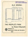 Ala Moana   The People's Park Book