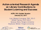 Action-Oriented Research Agenda on Library Contributions to Student Learning and Success